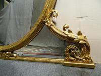Large 5' Gilt Overmantel Mirror (3 of 6)