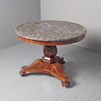French Marble Top Gueridon Circular Centre Table (2 of 8)