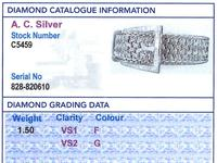 1.50ct Diamond & 18ct White Gold Bracelet - Vintage French c.1940 (9 of 10)