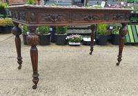 Quality Victorian Oak Writing Desk (2 of 12)