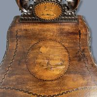 Black Forest Carved & Inlaid Hall Chair (7 of 8)