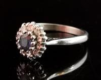Vintage Sapphire & Diamond Cluster Ring, 18ct White Gold (8 of 13)