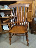 Pair of Elm Carver Chairs (6 of 8)