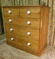 Antique Stripped Pine Chest of Drawers (5 of 9)