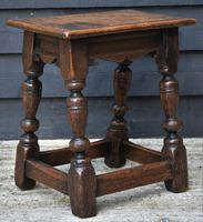Lovely 19th Century Oak Joint Stool c.1800-1850 (3 of 10)