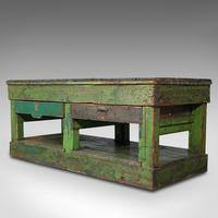 Large Antique Industrial Mill Table, English, Pine, Kitchen Island, Victorian (3 of 12)