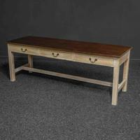 Country Style Three Drawer Dining Table (7 of 10)
