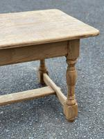 Large French Bleached Oak Farmhouse Table with Extensions (10 of 26)