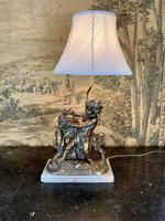 Early 20th Century Lamp Featuring Cherub & Goat (2 of 4)