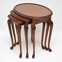 Antique Burr Walnut Nest of Three Tables (9 of 10)
