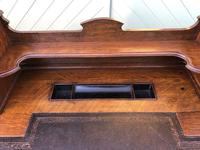 Antique Oak Pedestal Writing Desk (Pri) (10 of 13)