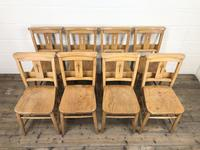 Set of Eight Antique Church Chairs (m-2068-8) (2 of 7)