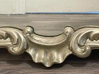 Beautiful French Regency Style Glass Silver Acanthus Crown Overmantle Mirror (17 of 23)