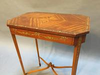 Edwardian Occasional Lamp Table (3 of 8)