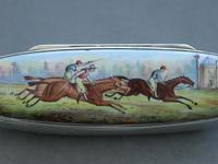 Victorian Silver & Enamel Combination Vesta Case/ Pen Knife / Pencil / Button Hook - Horse Racing  by Alfred Fuller, London 1887 (6 of 14)