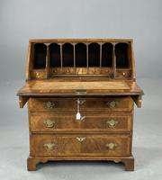 Antique Rare Small Georgian Walnut Bureau (2 of 10)
