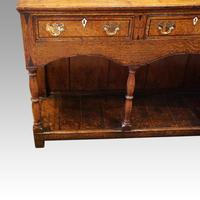 Georgian Oak Inlaid Dresser Base (6 of 11)