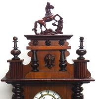 Victorian 8-day Wall Clock – Antique Striking Vienna Wall Clock by Hac (12 of 14)
