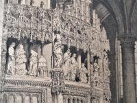 Fine antique print, Axel Herman Haig etching, Chartres Cathedral, signed 1881 (3 of 9)