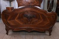Lovely Quarter Veneer Louis XV Style Double Bed (3 of 10)