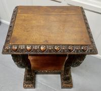 Pair of 19th Century Art Nouveau Gothic Carved Oak Console Pedestals (4 of 11)