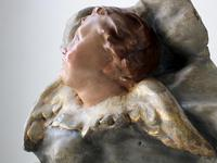 19th Century Ceramic Angel Bas Relief Sculpture (5 of 6)