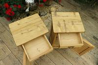 Quality Pair of Old Stripped Pine Bedside Cabinets (6 of 9)