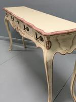 Large French painted console table with drawers (3 of 8)