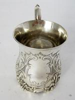 Early Victorian Inverted Bell Shaped Silver Christening Mug (2 of 6)