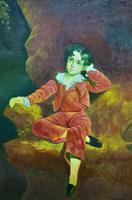 After: Sir Thomas Lawrence 'The Red Boy' Large Portrait Oil Painting (10 of 10)