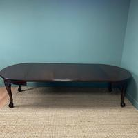 Edwardian Walnut Wind Out Extending Antique Dining Table (3 of 10)