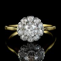 Antique Edwardian Old Cut Diamond Cluster Ring 18ct Gold 1.65ct Of Diamond Circa 1901 (4 of 6)