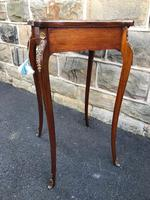 Antique Rosewood & Brass Bijouterie Display Table (5 of 10)