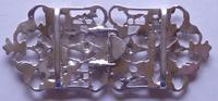 Victorian London 1894 Hallmarked Solid Silver Nurses Belt Buckle (2 of 9)