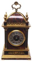 Incredible French Shell Mantel Clock French Cubed 8-day Miniature Bracket Clock (2 of 11)