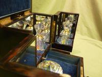 Rare Fine Quality Coromandel Jewellery – Perfumery Box c.1872 (2 of 14)