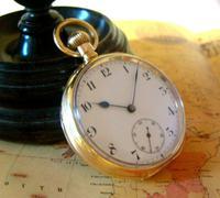 Antique Omega Labrador Pocket Watch 1912 15 Jewel 10ct Rose Gold Filled Case FWO (2 of 12)