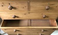 Large Stripped Pine Chest of Drawers (4 of 9)