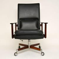 Danish Rosewood & Leather Desk Chair by Arne Vodder (2 of 13)