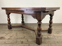 Extending Oak Draw Leaf Refectory Dining Table (14 of 17)
