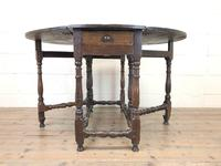 Antique Oak Drop Leaf Dining Table (3 of 13)