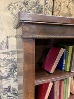English 19th Century Mahogany Open Bookcase (4 of 5)