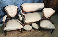 Victorian Burr Walnut & Inlaid Salon Suite (5 of 38)