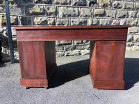 Antique Mahogany Pedestal Desk (9 of 12)