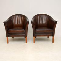 Pair of Danish Vintage Leather Armchairs by Mogens Hansen (2 of 7)