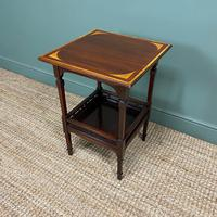 Stunning Victorian Inlaid Antique Mahogany Occasional Table (3 of 7)