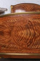 Spectacular and Beautiful Fruitwood Inlay Rococo King Size Bed (7 of 10)