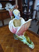 Staffordshire Pottery Flower Vase & Lady (2 of 4)