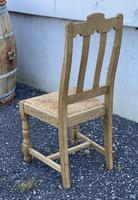 Set of 6 French Bleached Oak Farmhouse Dining Chairs (3 of 13)