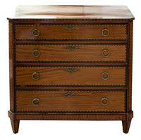 Small Dutch Satinwood Chest of Drawers (6 of 8)